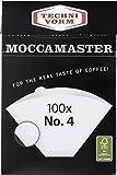 Moccamaster 85022 4 White Paper Filters Filterkaffeemaschine, Aluminium, weiß