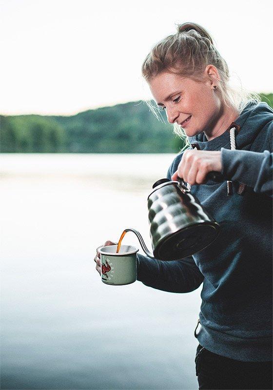 Kaffee kochen am See