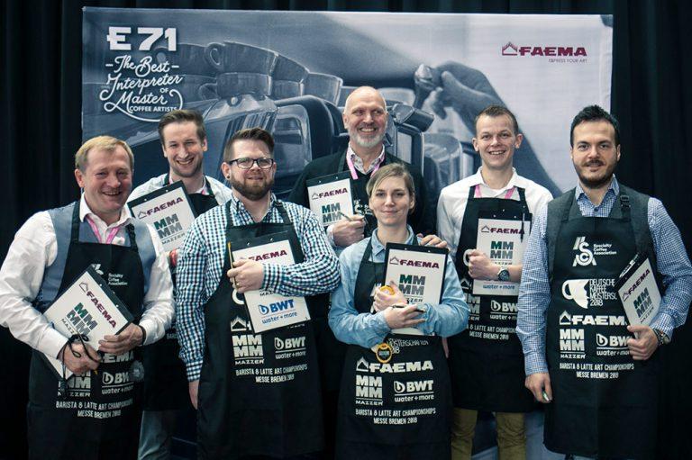 Baristameisterschaft Latte-Art-Meisterschaft Juroren