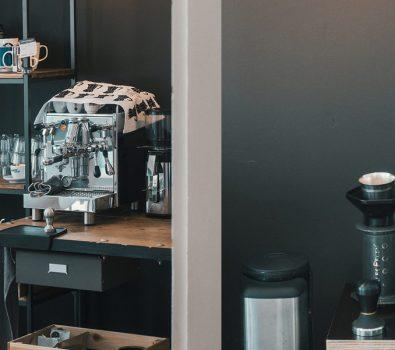 Kaffeebar in der Küche