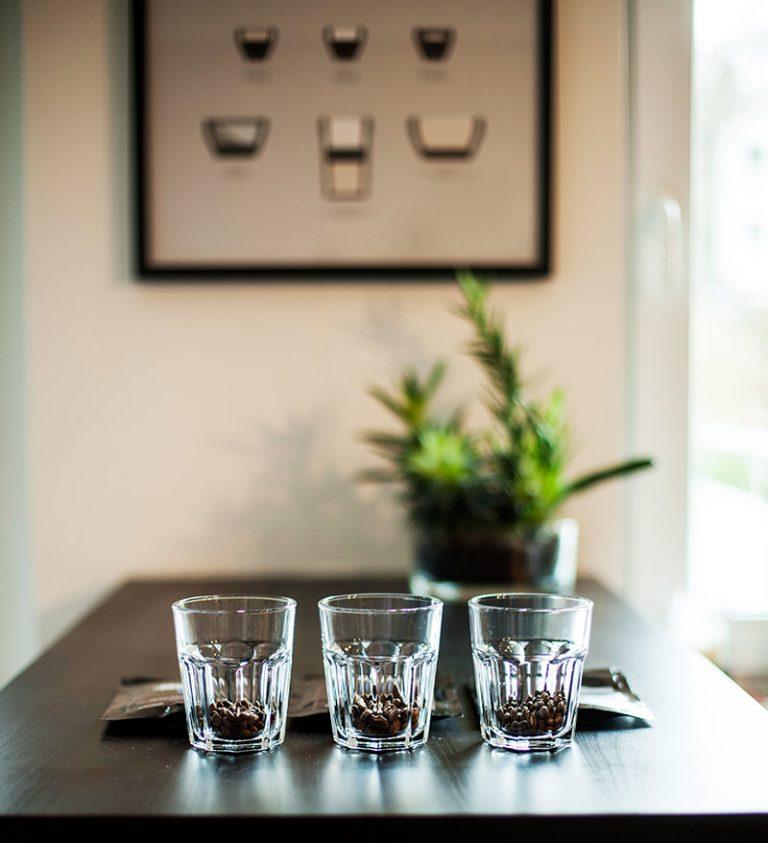 cupping kaffeebohnen